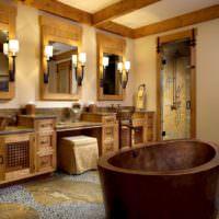 Зеркала в ванной комнате в стиле лофт