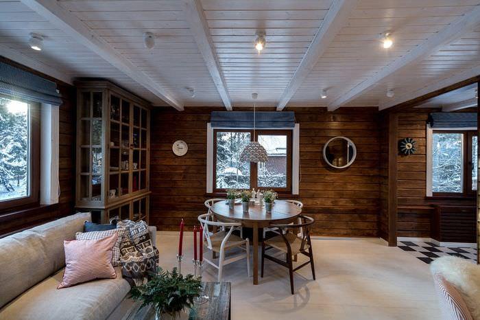 Дизайн просторной кухни в скандинавском стиле