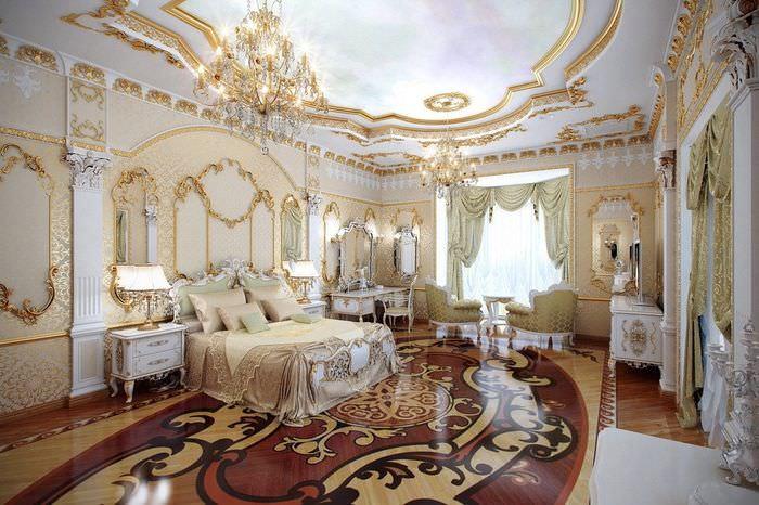 Дизайн гостиной с элементами барокко