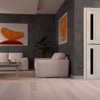 оранжевый цвет в декорировании пространства гостиной