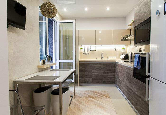 Правильное освещение кухонного пространства точечными светильниками