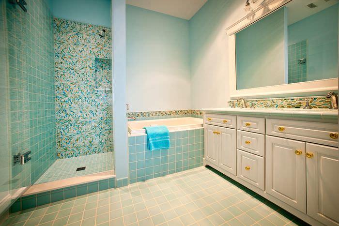 Дизайн ванной комнаты в морской тематике