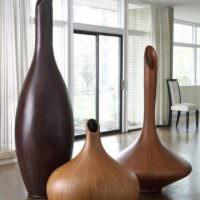 Красивые вазы под натуральное дерево