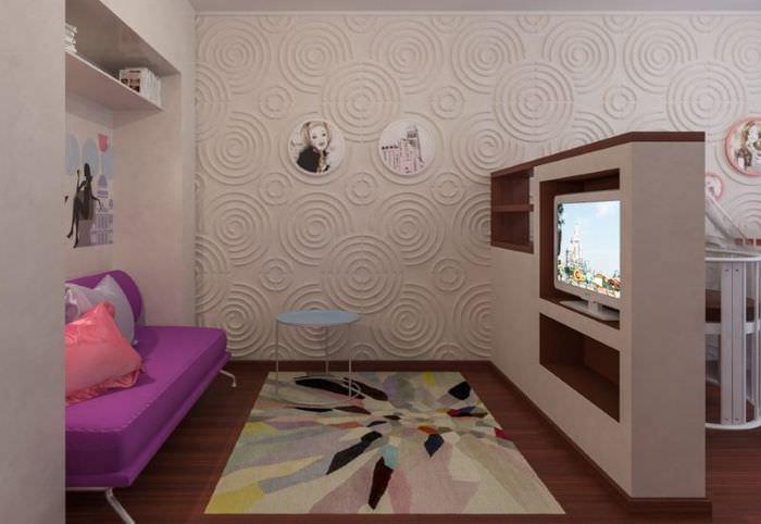 Интерьер детского уголка в общей комнате