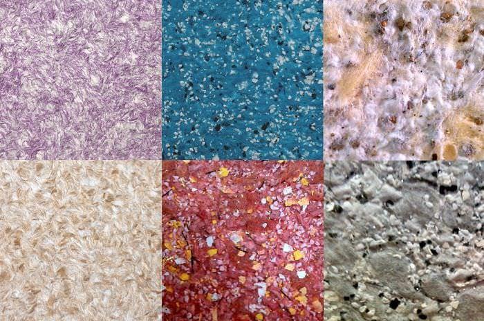 Фото текстур с использованием различных жидких обоев