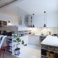 Вертикальное зонирование небольшой квартиры