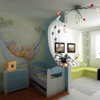 Кроватка для новорожденного в общей комнате