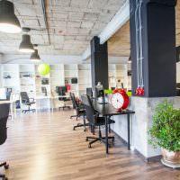 Оформление просторного офиса в американском стиле