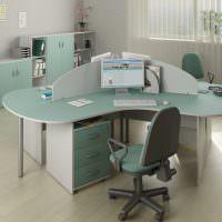 Дизайн офиса в пастельных тонах