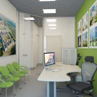 Зеленые стулья под цвет стены