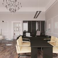Мягкая мебель в интерьере офисного помещения