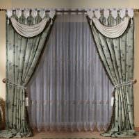 Классические шторы на подвязках с ламбрекенами