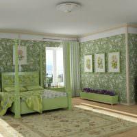 Декорирование стен спальни картинами