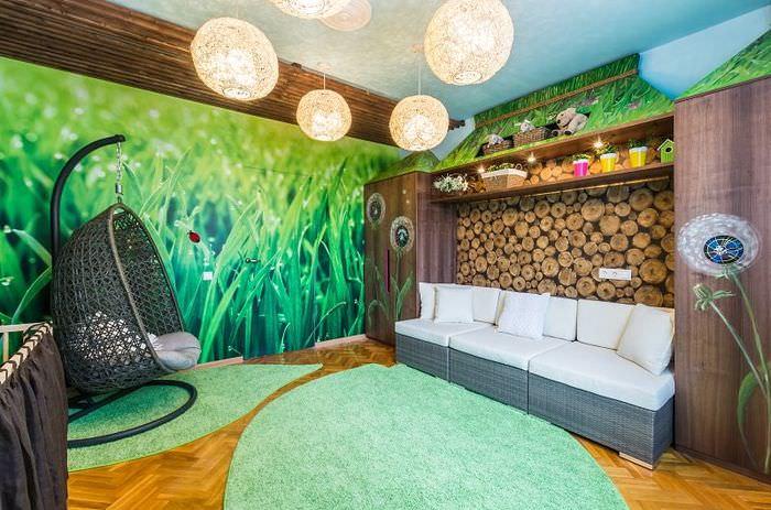 Комната для ребенка в эко-стиле
