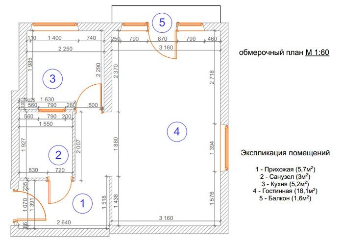 Схема расстановка мебели в однокомнатной квартире