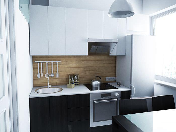 Дизайн-проект небольшой кухни
