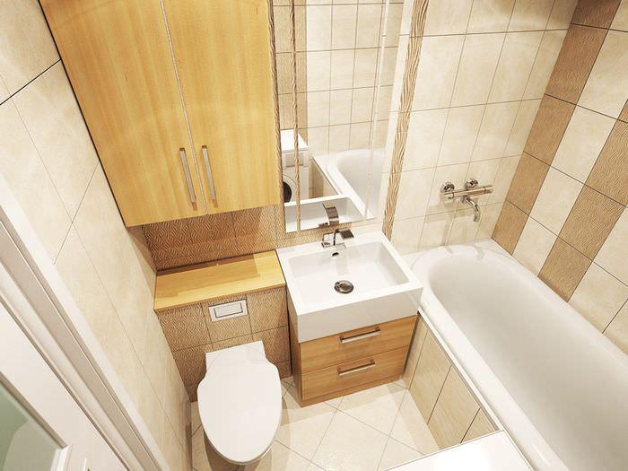 Проект ванной комнаты маленькой площади