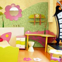 Яркое оформление детской комнаты для малыша