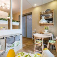 Оформление обеденной зоны в кухне-гостиной