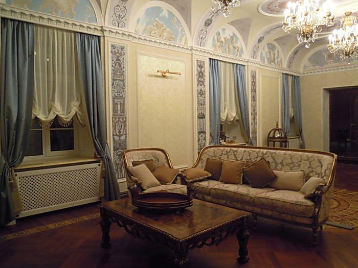 Дизайн большого зала в стиле ампир