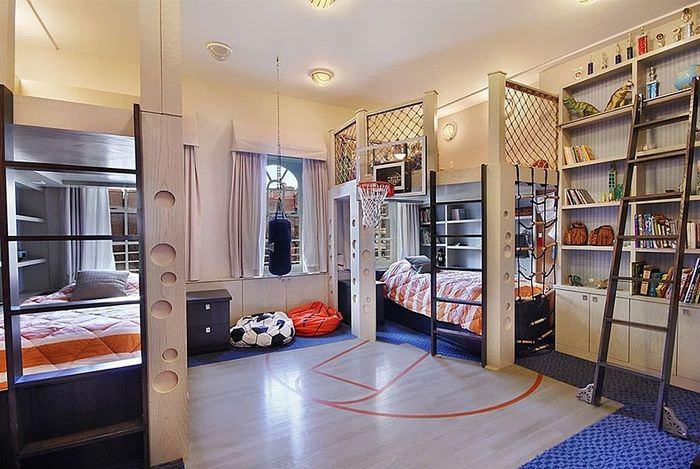 Оформление комнаты для юного баскетболиста