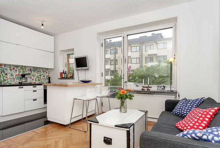 Дизайн интерьера квартиры-студии 25 кв. метров