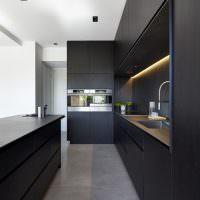 Подсветка рабочей зоны кухни-гостиной