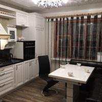Классическая кухня в черно-белом цвете