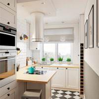 Дизайн узкой кухни городской квартиры