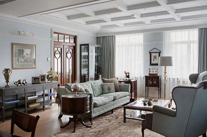 Декорирование гостиной классического стиля