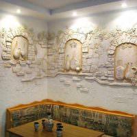 Декорирование стен фактурной штукатуркой