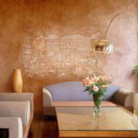 Текстурная шпаклевка в декорировании стен
