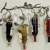Подвеска в форме ветки для фужеров и винных бутылок