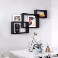 Черные полочки для интерьерных декораций