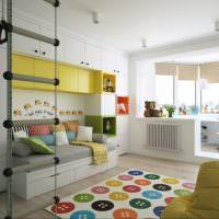 Детская комната с совмещенной лоджией