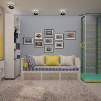 Акценты желтого цвета в дизайне детской комнаты