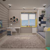 Интерьер детской комнаты в серых оттенках