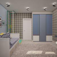 Поворотные софиты на потолке детской комнаты