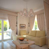 интерьер гостиной в бежевом цвете