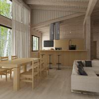 дизайн гостиной в современном коттедже