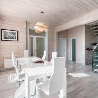 Белая мебель в дизайне частного дома