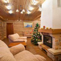 Светильники на потолке с деревянной обшивкой