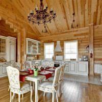 Классическая мебель в деревянном доме