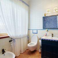 Оформление ванной комнаты в деревянном доме