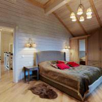 Обустройство спальни в мансардном помещении