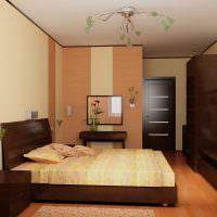 Корпусная мебель коричневого цвета