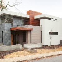 Дизайн жилого дома в стиле хай-тек