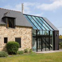 Застекленная терраса с прозрачной крышей