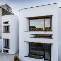 Белые фасады закругленной формы