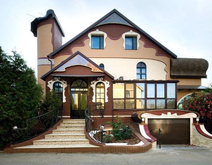 Внешний облик дома в стиле модерн